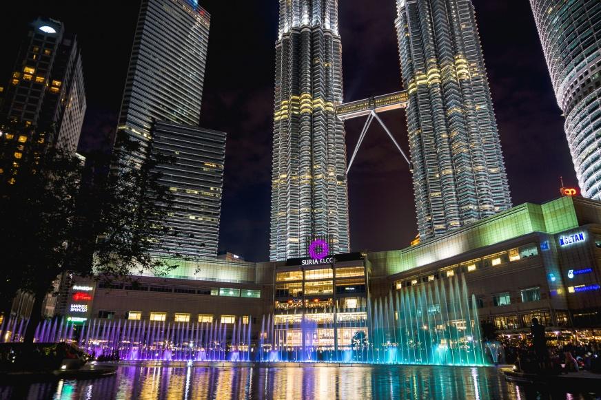 Kuala Kumpur Petronas Tower Fontain